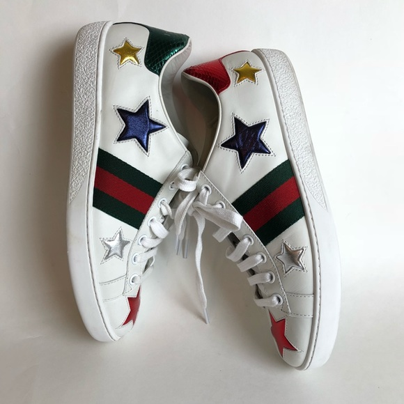 f544d770c5f Gucci Shoes - Gucci white new ace star women sneakers